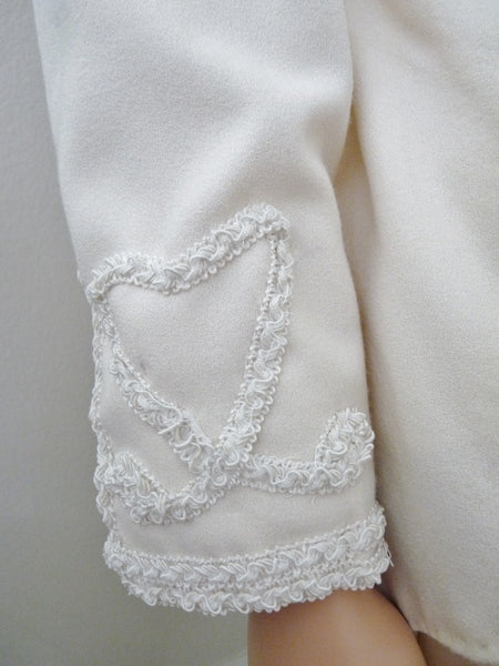Woman's Handmade Embellished White Wedding Suit