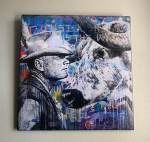 "No Bull/Noble II 12"" x 12"" Giclee 1 of 5"