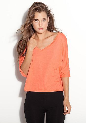 Flowy V-Neck Long Sleeve Tee - Simple Stature