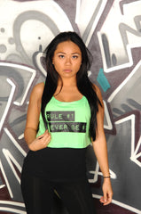 The Rules Cropped Tank - Simple Stature