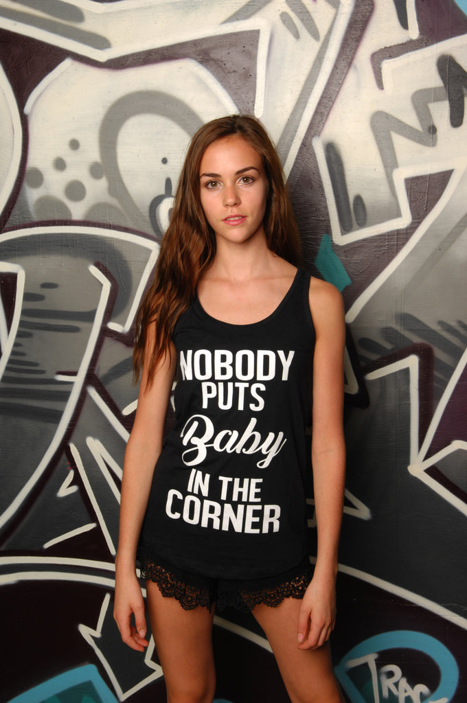 Baby in the Corner Racerback Tank - Simple Stature