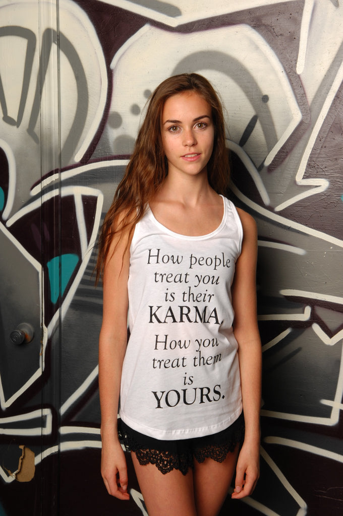 Karma Racerback Tank - Simple Stature