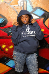 No Fucks Given Hooded Sweatshirt - Simple Stature