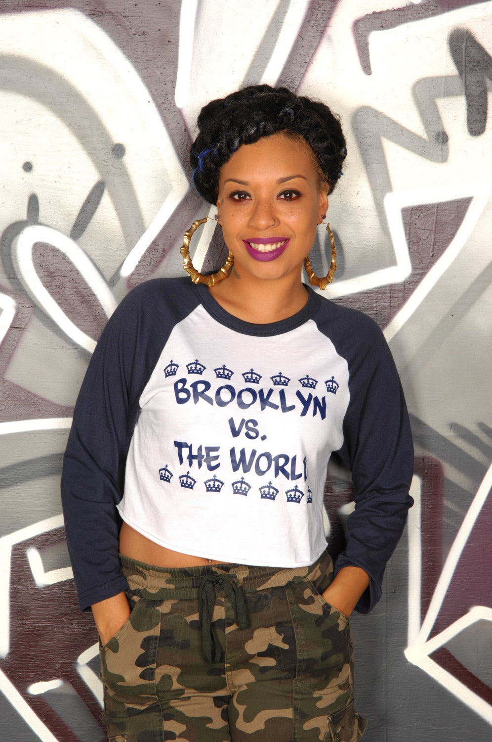 Brooklyn vs. The World Cropped Baseball Tee - Simple Stature