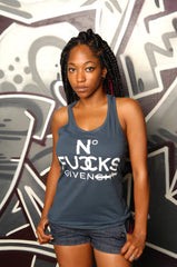 No Fucks Given Racerback Tank - Simple Stature