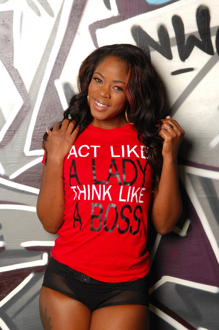 A Lady & A Boss Tee - Simple Stature