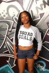 Squad Goals Crop Baseball Tee - Simple Stature