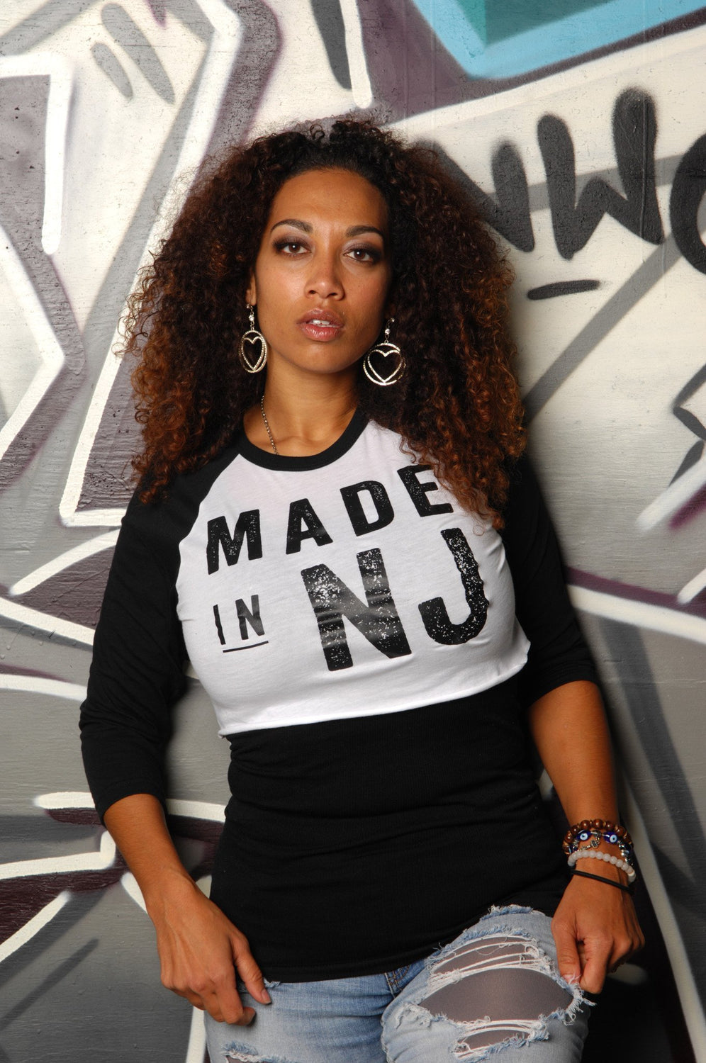 Made in New Jersey (NJ) Cropped Baseball Tee - Simple Stature