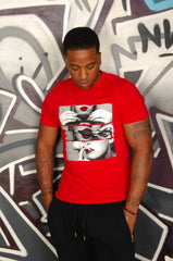 Red Roll, Seal & Smoke Weed Tee - Simple Stature