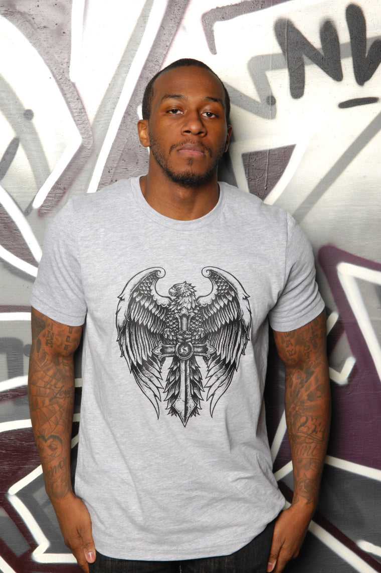 Gothic Eagle Tee - Simple Stature