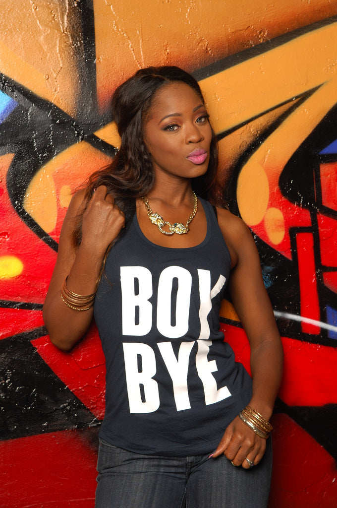 Boy Bye Racerback Tank - Simple Stature