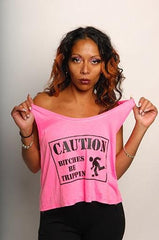 Caution ... Bitches Be Trippin Tank - Simple Stature
