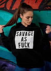 Savage as Fuck Glitter Hoodie - Simple Stature