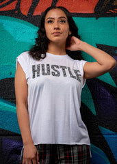 Hustle Rolled Cuff Tee - Simple Stature