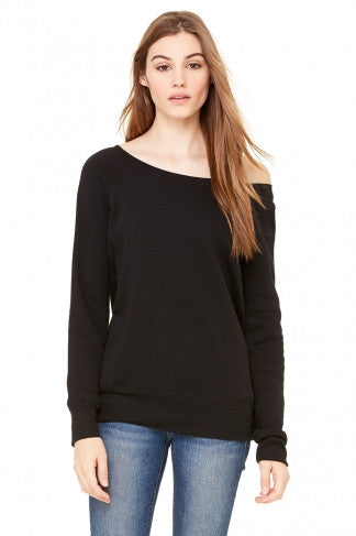 Slouchy Off-the-Shoulder Sweatshirt - Simple Stature