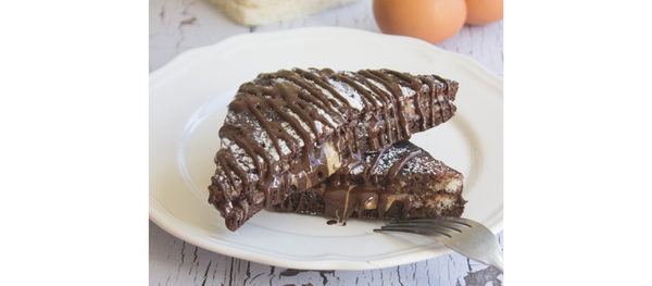 RECIPE: Keto Chocolate French Toast with Chocolate Drizzle