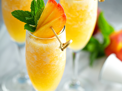 RECIPE: Collagen Peach Bellini