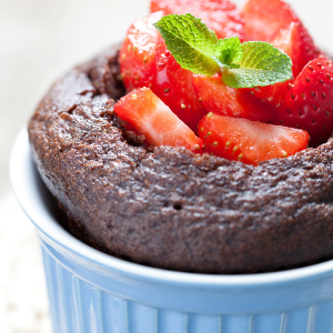 Strawberry Chocolate Clafoutis
