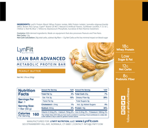 High Protein, Clean Keto Metabolic Boosting Lean Bars (12) for Weight Loss & Fat Burning with Prebiotic Fiber