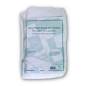 Terry Fitted Sheet with Straps (SS-3811)