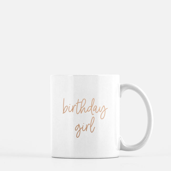 Birthday Girl Mug - Rose Gold