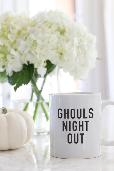 ghouls night out halloween mug kelly elizabeth designs
