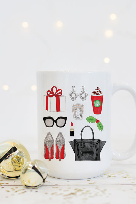 Dear Santa, Sorry Not Sorry Watercolor Mug