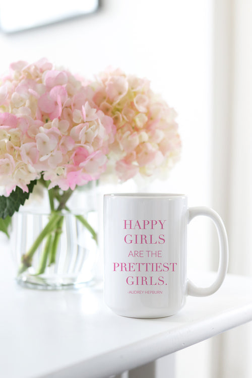 Happy Girls Are The Prettiest Girls Mug