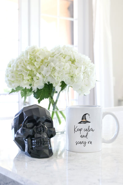 Keep Calm And Scary On Mug