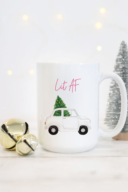 Sleigh All Day Mug - Pink