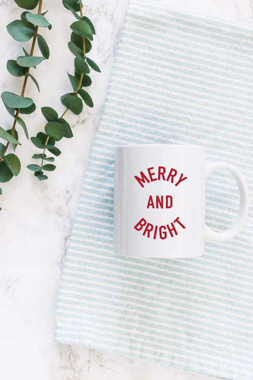 merry and bright christmas mug kelly elizabeth designs
