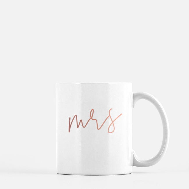 Mrs Mug - Rose Gold