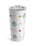 Watercolor Pumpkins and Leaves Tumbler