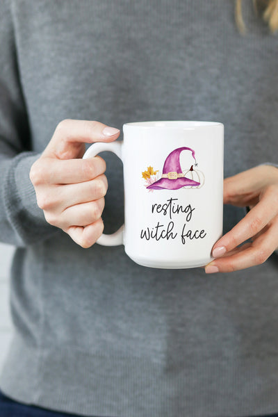 Resting Witch Face Mug