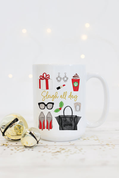Sleigh All Day Mug - Red
