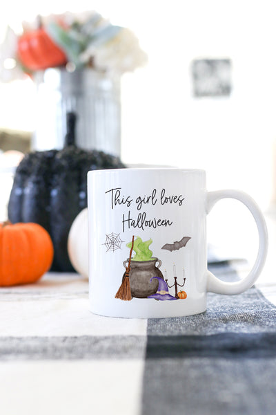 This Girl Loves Halloween Mug