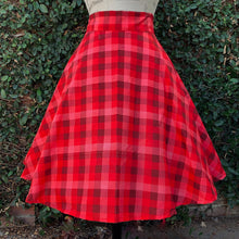 Load image into Gallery viewer, Valentine Plaid Skirt