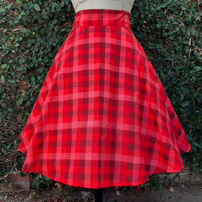Valentine Plaid Skirt