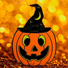 Load image into Gallery viewer, Pumpkin Witch Enamel Pin