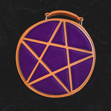 Load image into Gallery viewer, Purple Pentagram Concha Bag