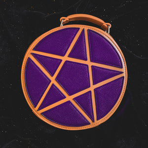 Purple Pentagram Concha Bag