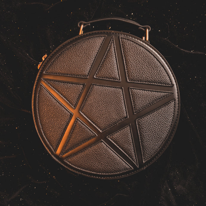 Black Pentagram Concha Bag