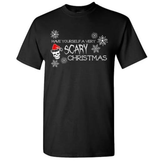 Have Yourself a Very SCARY Christmas tee (black)