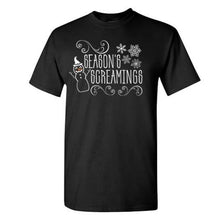 Load image into Gallery viewer, Season's Screamings tee (black)