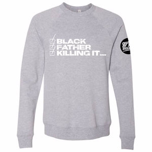 """Black Father"" Crewneck Sweatshirt"