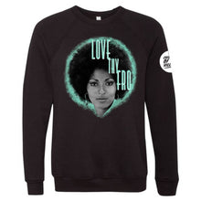 "Load image into Gallery viewer, ""Love Thy Fro"" Crewneck Sweatshirt"