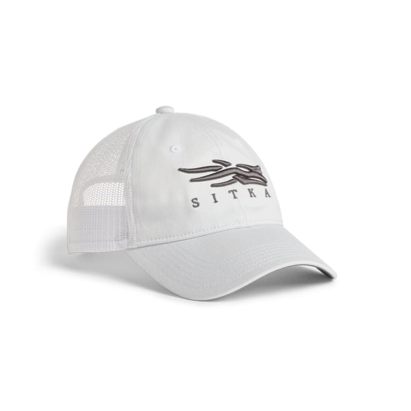 Sitka Icon Lo Pro Trucker White Hat