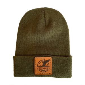 Canadian Waterfowl Supplies Leather Patch Toque