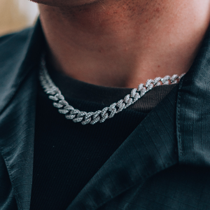 8MM ICED OUT CUBAN CHAIN