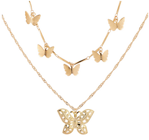 Multi-layer Butterfly Necklace
